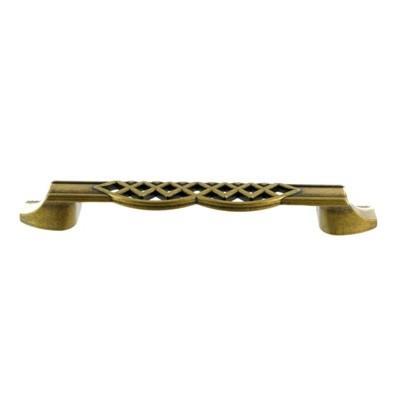 Мебельная ручка-скоба GUISTI L-128 мм., латунь античная