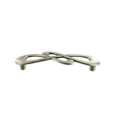 Мебельная ручка-скоба GUISTI L-96 мм., серебро античное